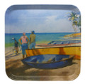 Melamine tray with the Catch of the Day design.