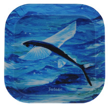 Melamine tray with a Flyingfish design.