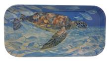 Melamine tray with the Turtle Harmony design.