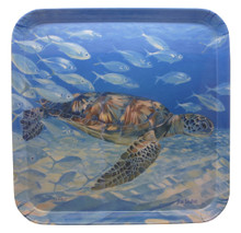 Melamine tray with the Turtle Harmony design.