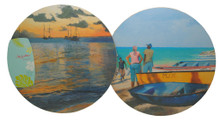 Set/2 placemats with scenes of Barbados