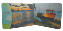 Set/2 placemats with sunset scenes on Carlisle Bay