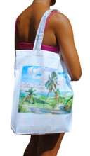 A tote bag with a Jill Walker design.