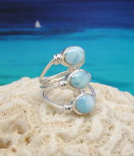 Larimar and silver ring.