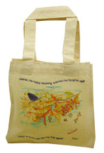 Mini tote with Nibbles the happy hatchling.