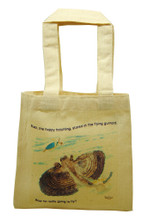 Mini tote with Buzz the happy hatchling.