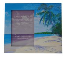 A Beach souvenir photo frame.