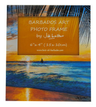 A Sunset souvenir photo frame.