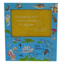 A Caribbean Map souvenir photo frame.