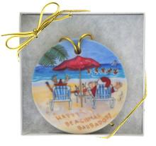 Santa enjoying his holiday in Barbados!