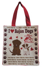 Strong canvas bag with The Ark doggie design.