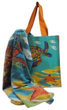 A great turtle bag and towel combined!