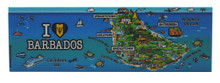 A magnet with the Barbados map!