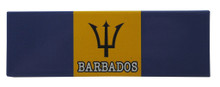 A Barbados flag magnet