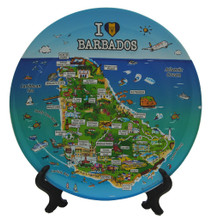 Souvenirs plate with everything about Barbados we love!