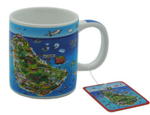 Expresso mug with Barbados map