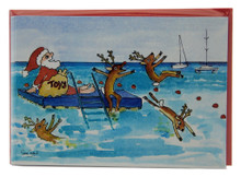 A pack of 6 Christmas cards by Sue Trew.