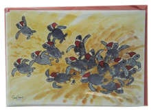 Santa hatchlings on the way to the sea - pack of 6.