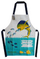 Hand screenprinted apron for kids - what's in the pocket??