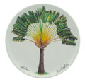 Small round dish with a traveller's palm design.
