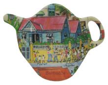 Teabag holder with Island Life design.