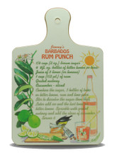 Rum punch mini chopping board.