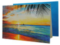 A Jill Walker card with a beautiful sunset at Paynes Bay, Barbados.
