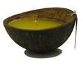 Coconut Candle Half Yellow