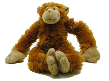 A very soft fluffy monkey with velco on its hands and feet and the arms and legs pull through giving kids even more fun! Suitable for ages 3+