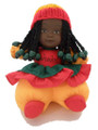 Renee Doll Rasta Colours with Crochet Cap