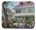 A mouse pad with a painting of Speightstown drawn some years ago by Jill Walker