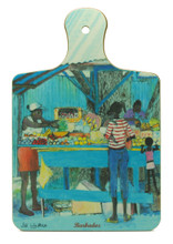 Chopping board with Market Stall design.