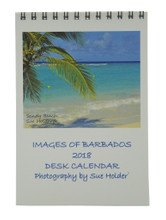 A small desk calendar with a wonderful Barbados scene of every page.