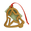 Wood Christmas Decoration Bell