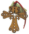 Wood Christmas Decoration Cross