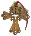 Wood Christmas Decoration Cross