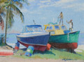 Fishermen at Six Men's Bay by Jill Walker
