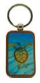 Keychain Barbados Art - Turtle Gliding