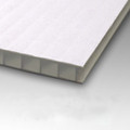 10mm Corrugated plastic sheets: 48 X 48: 100% Virgin White : Single pc