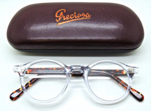 Hand Made Preciosa 759 01 Clear Front glasses by FrameHolland from www.theoldglassesshop.com
