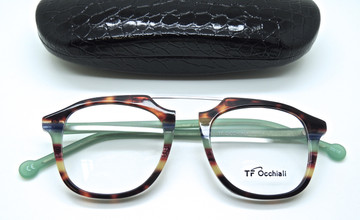 TF Occhiali glasses with metal brow bar from the Old Glasses Shop Ltd