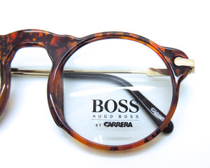 Hugo BOSS by Carrera 5108 Round  Vintage Glasses Frames In Tortoiseshell Colour Acrylic