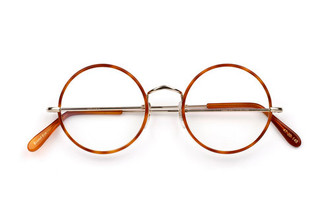 True round frame by Savile Row in 18kt rolled gold, warwick bridge