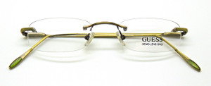 Guess 1095 Rimless Frames In Off Gold at the Old Glasses Shop