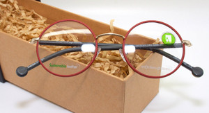 Monkey Glasses Lille 61 red round eyewear from The Old Glasses Shop Ltd