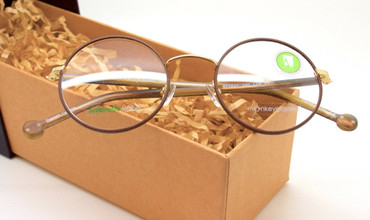 Sustainable round style glasses from www.theoldglassesshop.co.uk