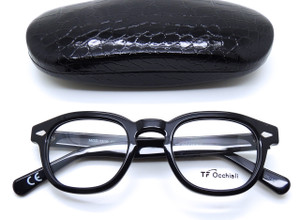 Square Black Plastic Glasses Frames