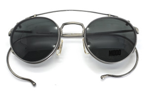 MODO panto fashionably small curlsides glassses with dark clip on sunglasses