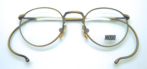 Modo Italian Eyewear Panto Shape Frames With Hooked Arms In Antique Gold