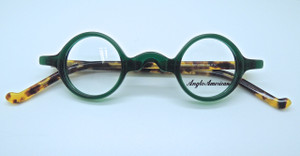 Anglo American Groucho True Round Small Lens Glasses In Green and Tortoiseshell Colour Acrylic (TR17 AH)